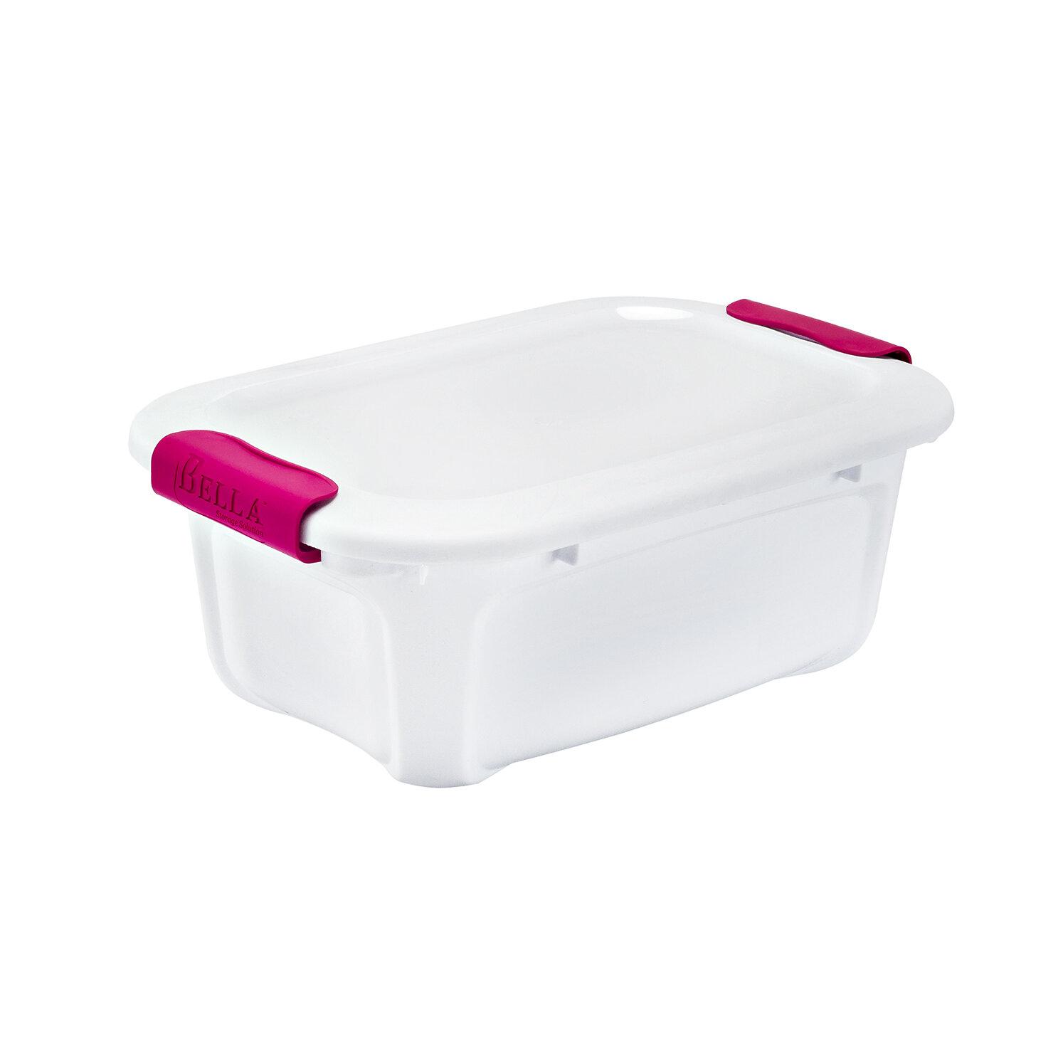 Bella Storage Solution 5.4 Qt. Locking Lid Dry Erase Storage Box ...
