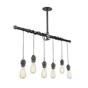 Industrial 6 Light Kitchen Island Pendant