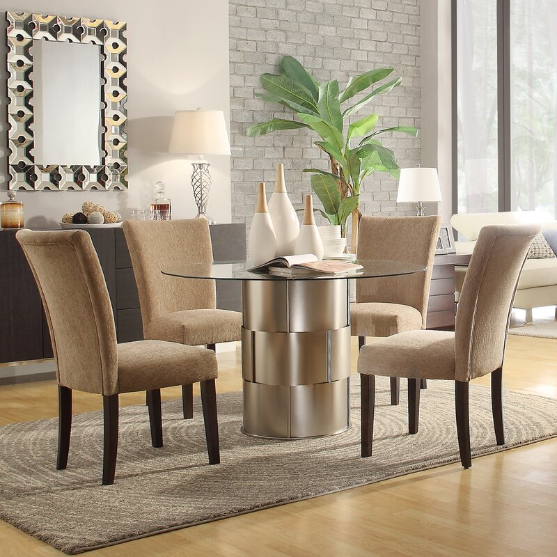5 Piece Dining Sets house of hampton cliburn 5 piece dining set in light brown