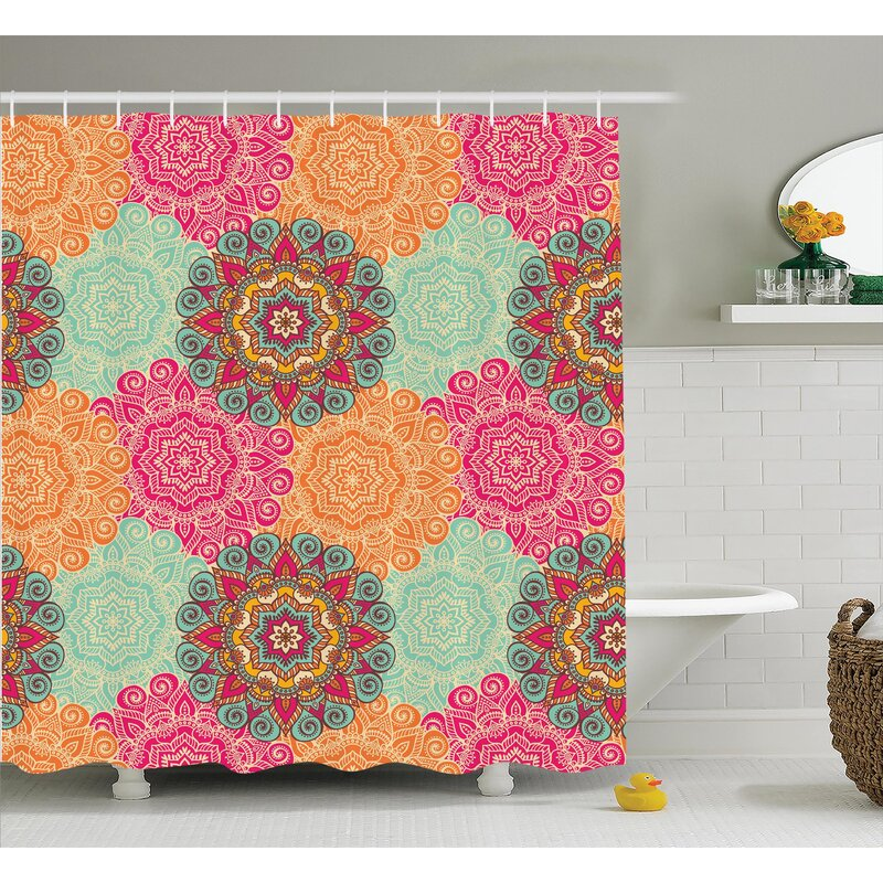 Delrick Decor Antique Mandala Shower Curtain