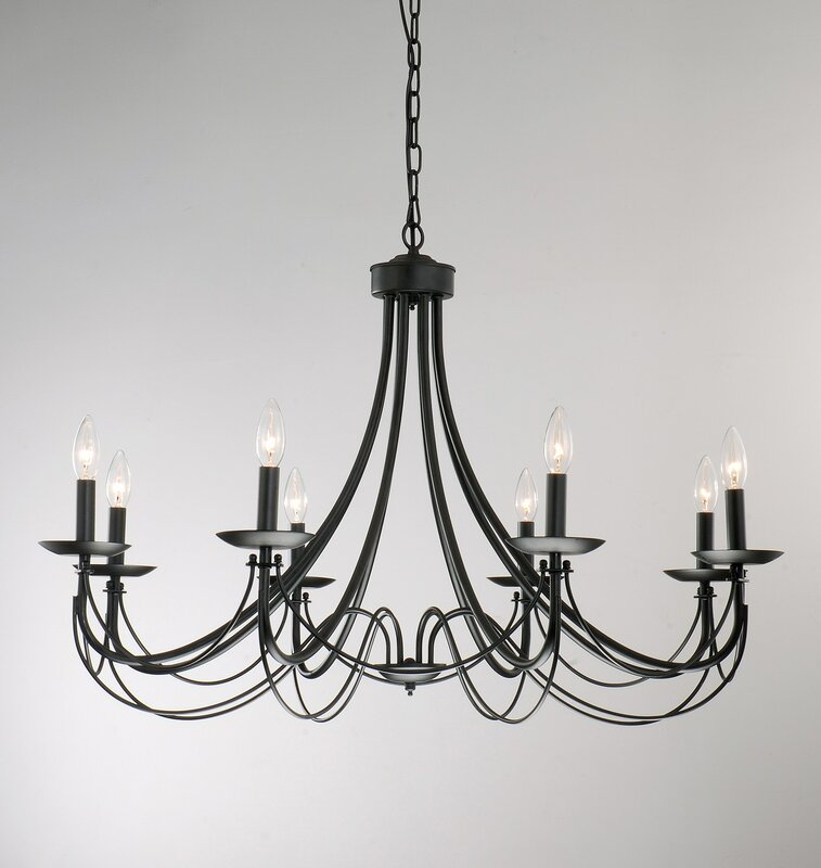 JoJospring Iron 8-Light Candle-Style Chandelier & Reviews