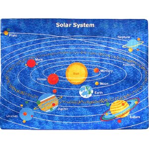 Planets Solar System Area Rug