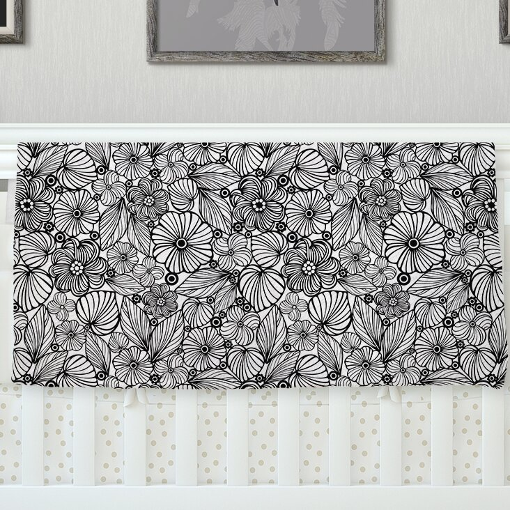 East Urban Home Candy Flowers By Julia Grifol Gray White Fleece