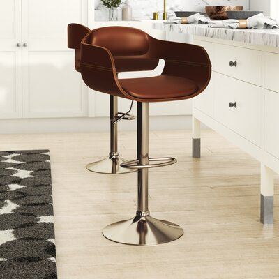Fabric Seat Adjustable Height Bar Stools You Ll Love