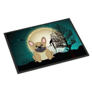 Halloween Scary French Bulldog Doormat