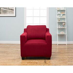 Dawson Box Cushion Armchair Slipcover by Hom..