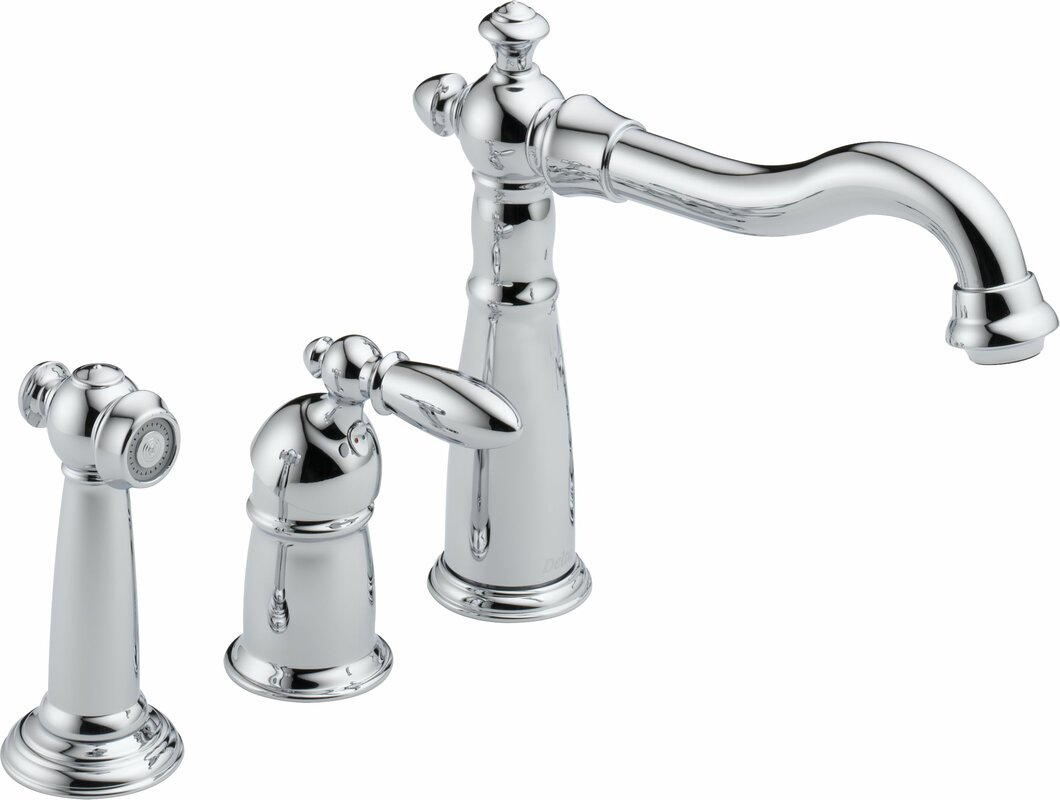 delta victorian single handle kitchen faucet with spray reviews default name