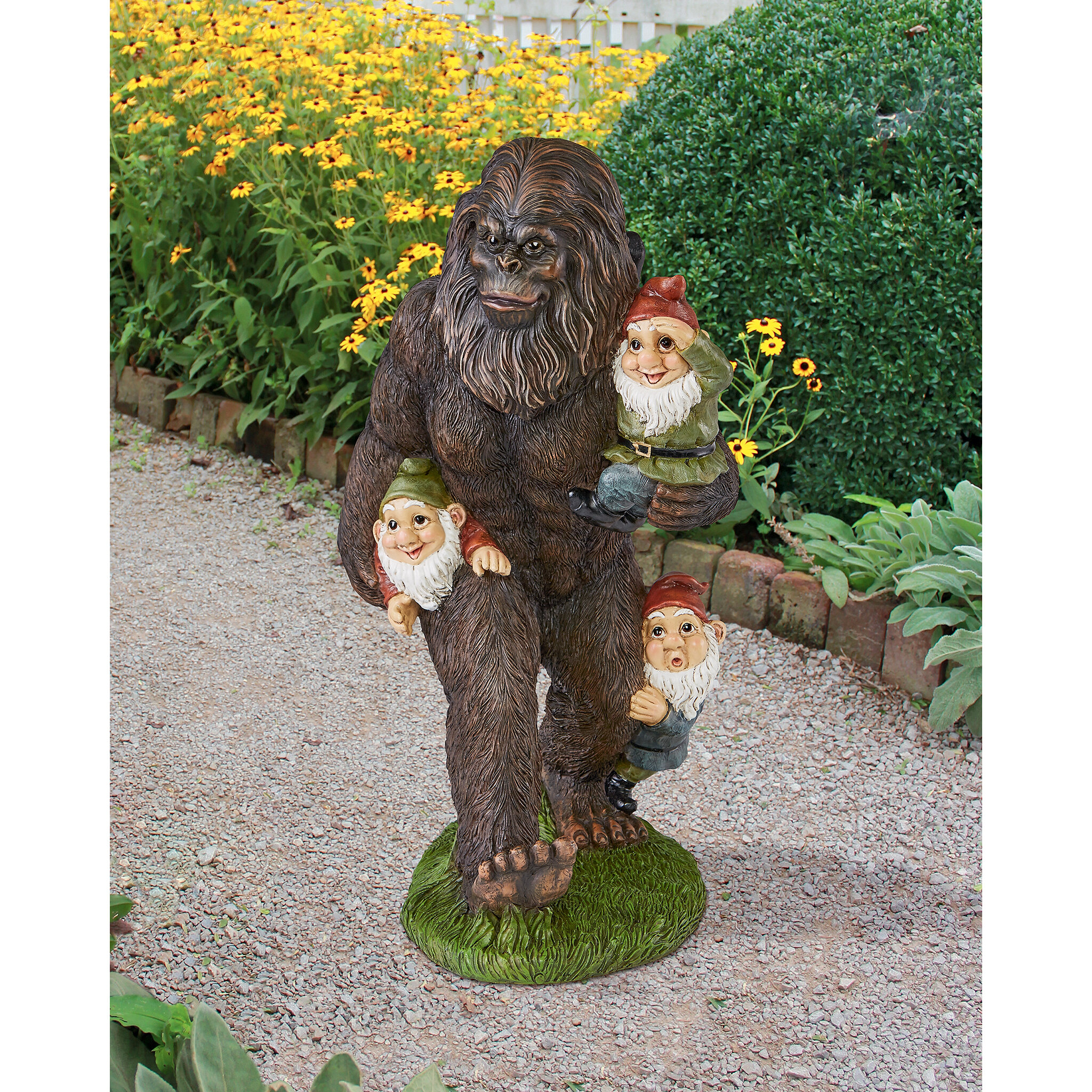 figure cherub catholic the company statue cat with garden
