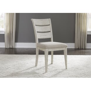Konen Ladder Back Upholstered Dining Chair (Set of 2)