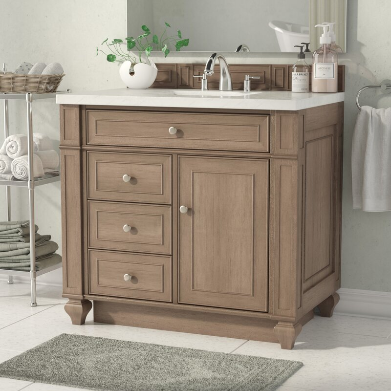 "alcott hill lambrecht 36"" single bathroom vanity set & reviews 