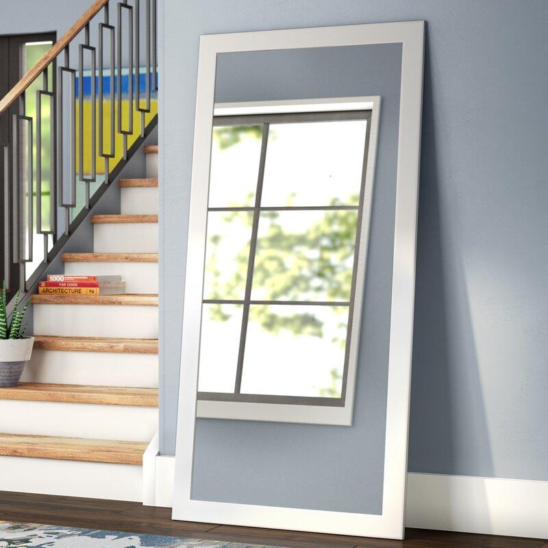 Latitude Run White Full Length Floor Mirror   Wayfair