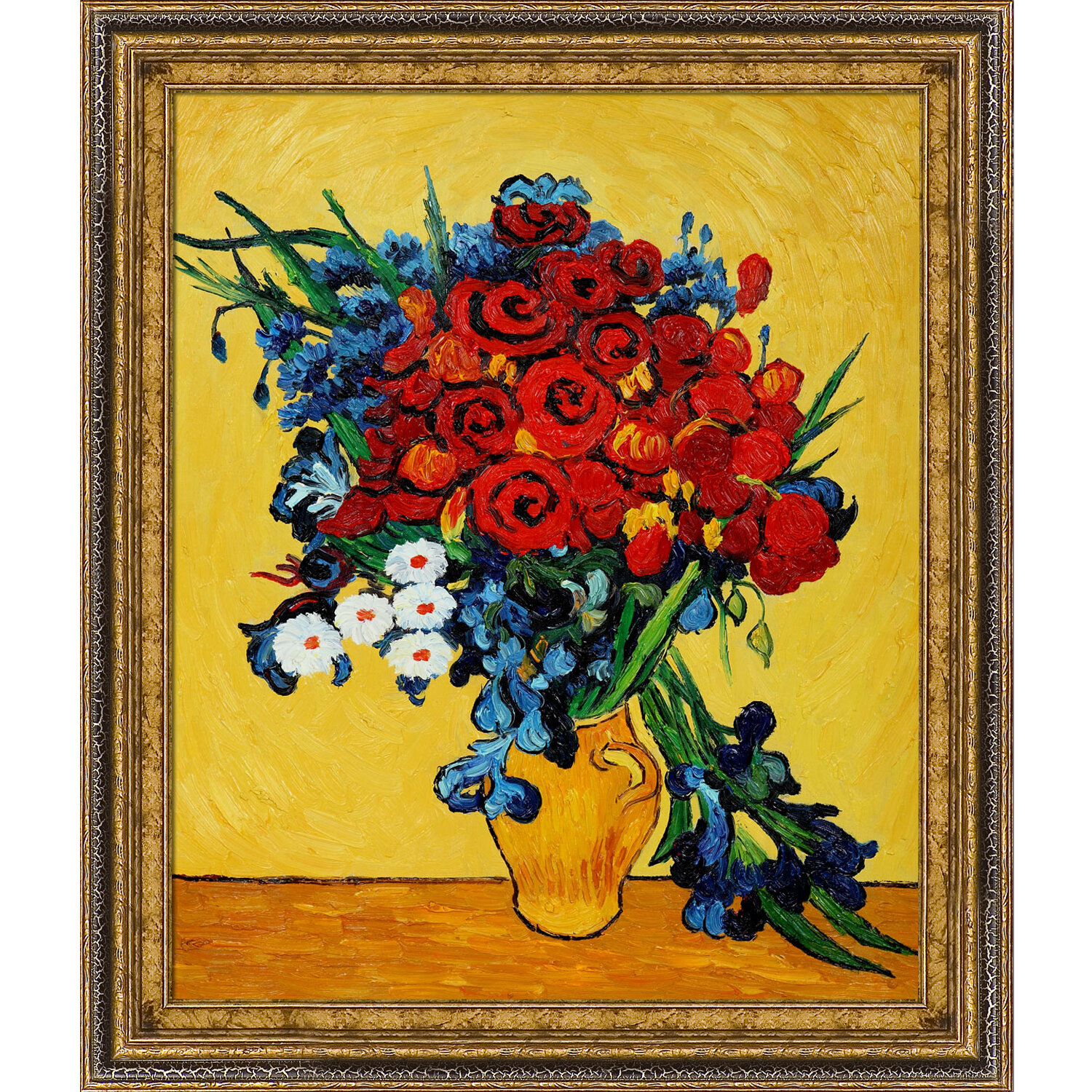 Tori Home Poppies And Iris Collage By Vincent Van Gogh Framed