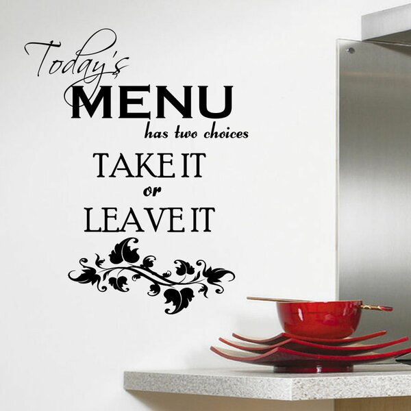 DecaltheWalls Today\'s Menu Kitchen Wall Decal & Reviews | Wayfair