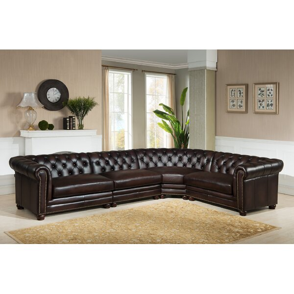 Amax Bakersfield Leather Modular Sectional Reviews