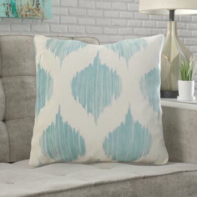 Wrought Studio Watson 100% Cotton Throw Pillow Size: 22 H x 22 W x 4 D, Color: Blue, Filler: Down