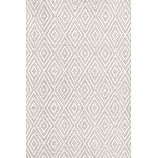 Diamond Hand Woven Gray White Indoor Outdoor Area Rug