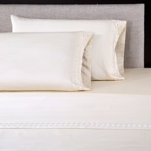 Standard Cream Highland Feather 350 Thread Count Swiss Dots Pillow Case