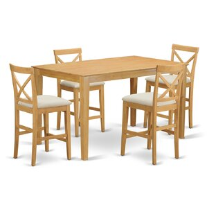 Smyrna 5 Piece Counter Height Pub Table S..