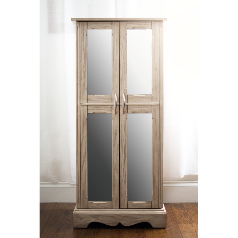 Beau Altenburg Chelsea Free Standing Jewelry Armoire With Mirror