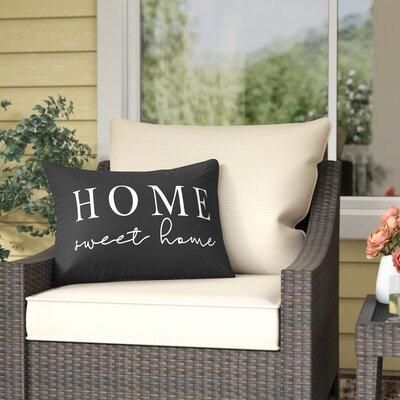 Patchett Home Sweet Outdoor Lumbar Pillow