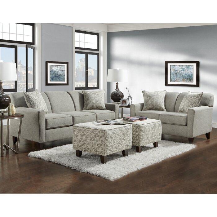 Latitude Run Holthaus 4 Piece Living Room Set & Reviews | Wayfair.ca
