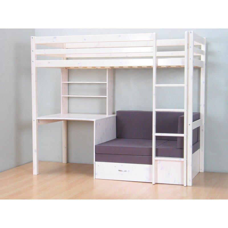Hochbett Devin Kids Mit Couch, 90 X 200 Cm