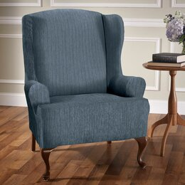 Attrayant Wing Chair Slipcovers Shop Covers And Sofa You Ll Love Wayfair. Living Room  ...