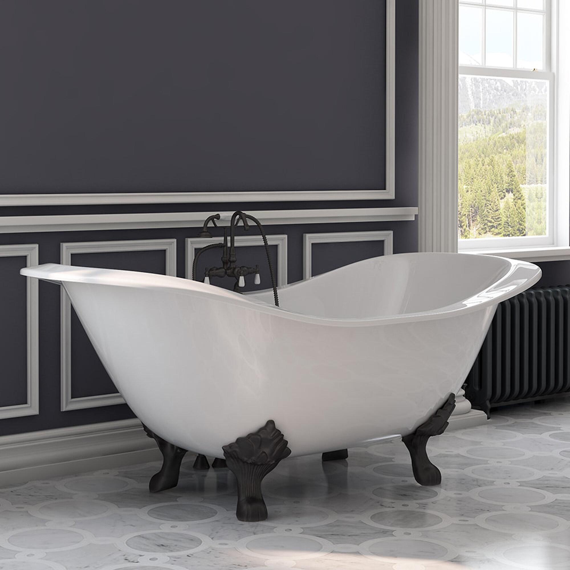 "Cambridge Plumbing 71"" x 31"" Clawfoot Bathtub & Reviews"