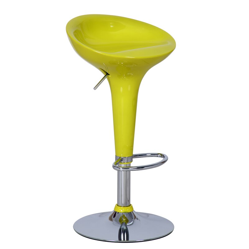 Adecotrading Adjustable Height Swivel Bar Stool Amp Reviews