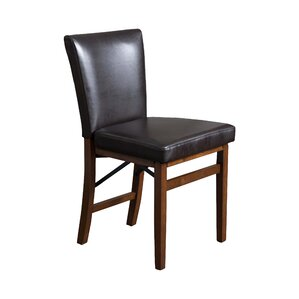 Lane Genuine Leather Upholstered Dining Chair (Set of 2) by Home Loft Concepts