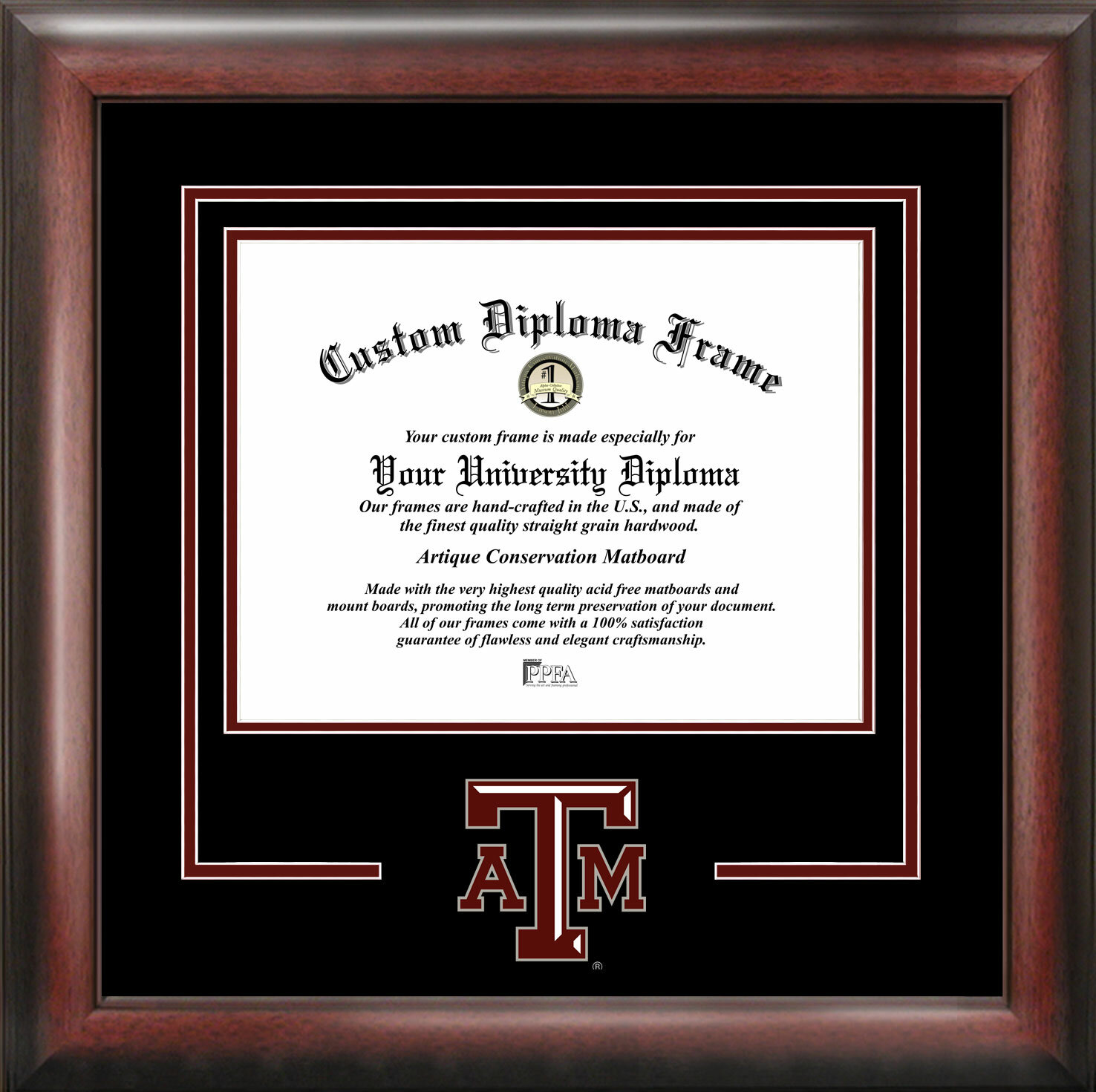 Campus Images NCAA Texas A&M Aggies Spirit Diploma Picture Frame ...