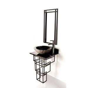 Iron Mission 22  Single Bathroom Vanity SetD Vontz   Wayfair. D Vontz Natural Marble Vessel Single Sink Bathroom Vanity Top. Home Design Ideas