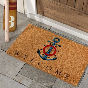 Alecia Ships Anchor Welcome Doormat