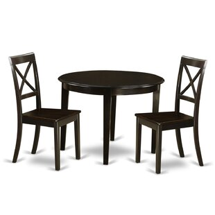 Hillhouse 3 Piece Solid Wood Dining Set