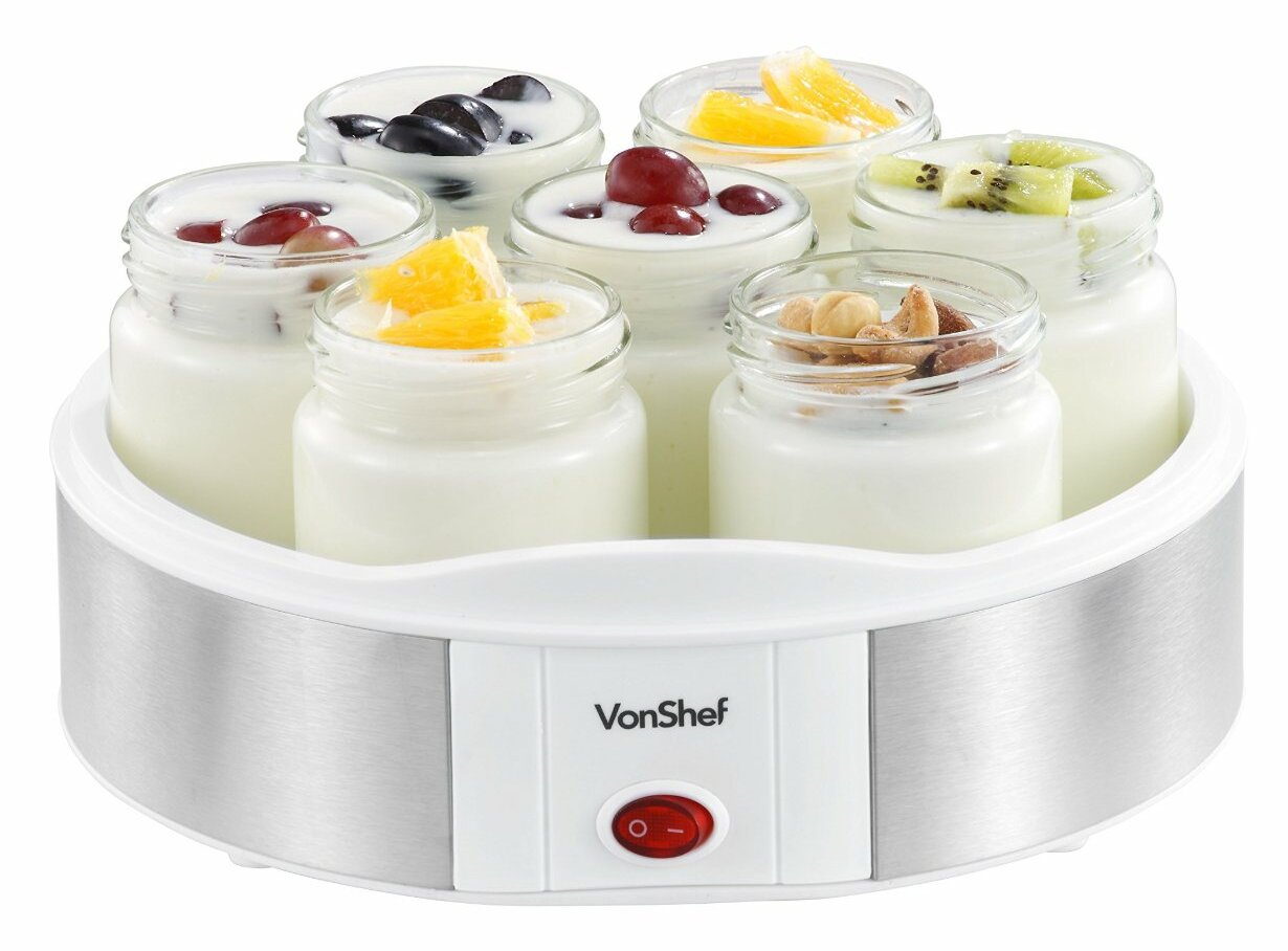 Vonshef 153 Qt Digital Yogurt Maker With 7 Jars Wayfair