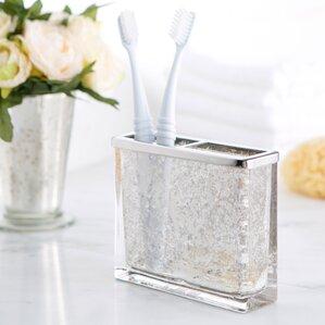 Attractive Mercury Glass Vanity Toothbrush Holder