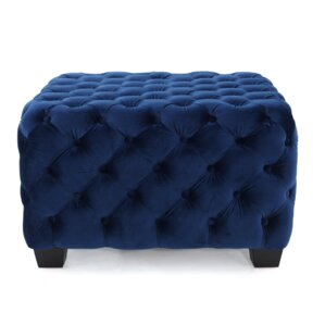 Crane Tufted Velvet Ottoman by Willa Arlo Interiors