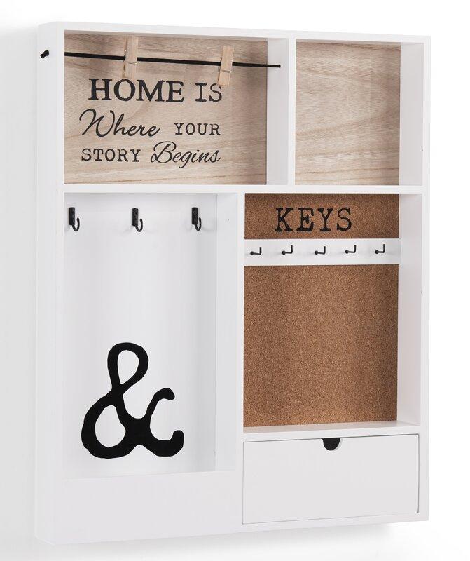 Key Holders For Wall gracie oaks entryway holder wall key organizer & reviews   wayfair