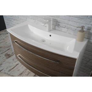 Fackelmann 100 cm Einbau-Waschbecken Rondo