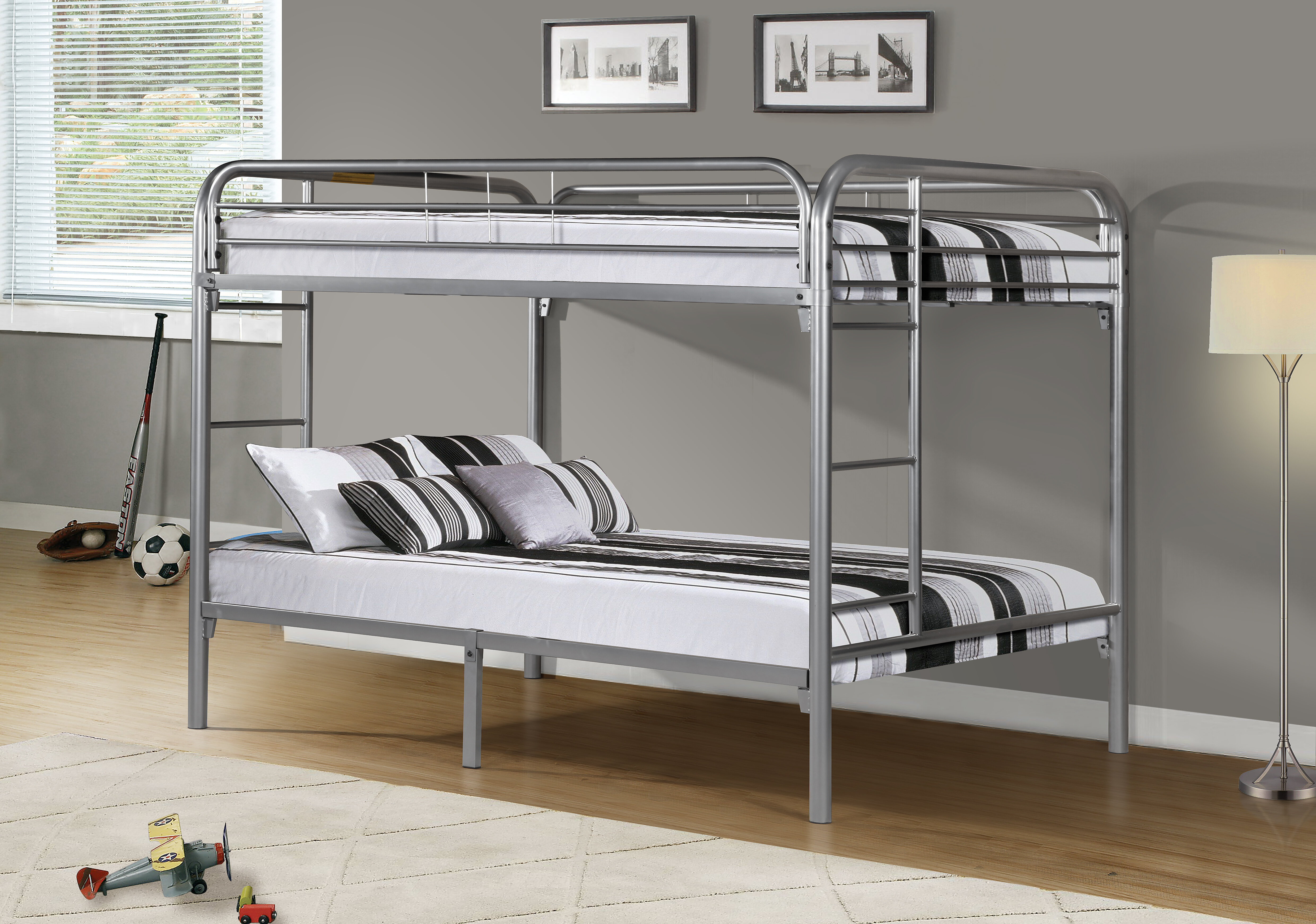 product enlarge the gunmetal wbg to home full click coaster bed over furniture cst classy bunk beds