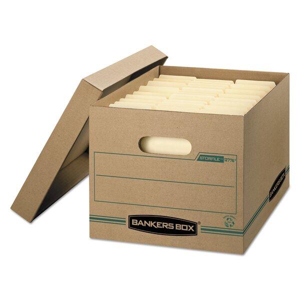 bankers box stor/file box w/lid, ltr/lgl, paper, 12 x 15 x 10, kraft paper file box