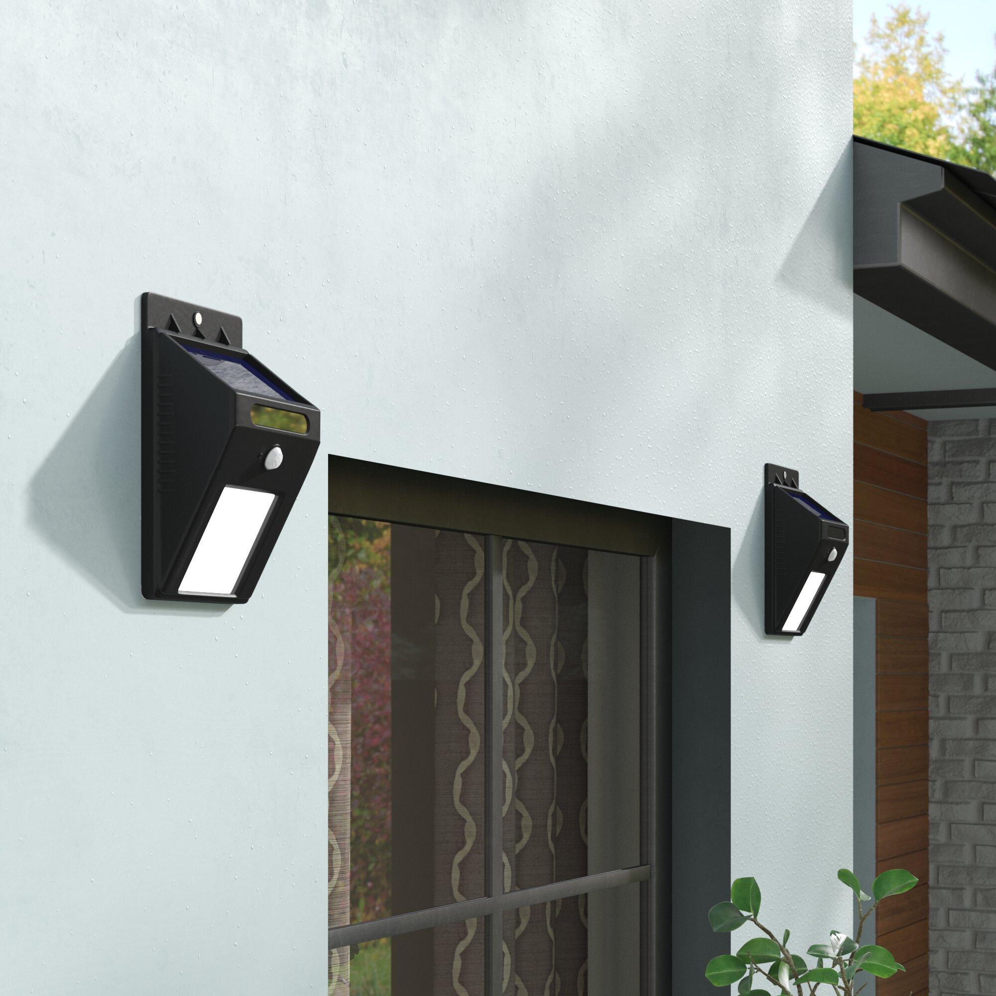 modern motion sensor outdoor lighting wall sconce symple stuff modern motion sensor solar 2light outdoor spotlight reviews wayfair