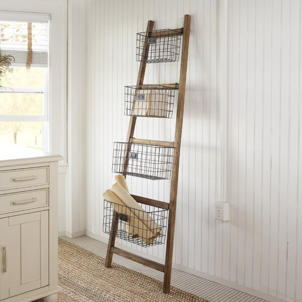 Cheungs Vertical Wooden 24 Quot W X 74 Quot H Decorative Ladder