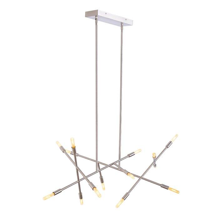 Line wave 14 light sputnik chandelier