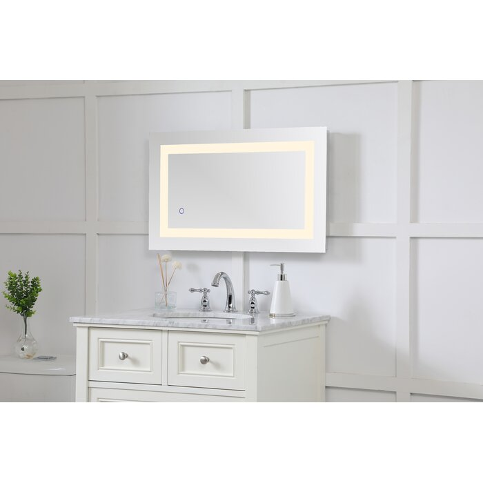 Excellent Tulloch Hardwired Led Lighted Bathroom Mirror Download Free Architecture Designs Scobabritishbridgeorg