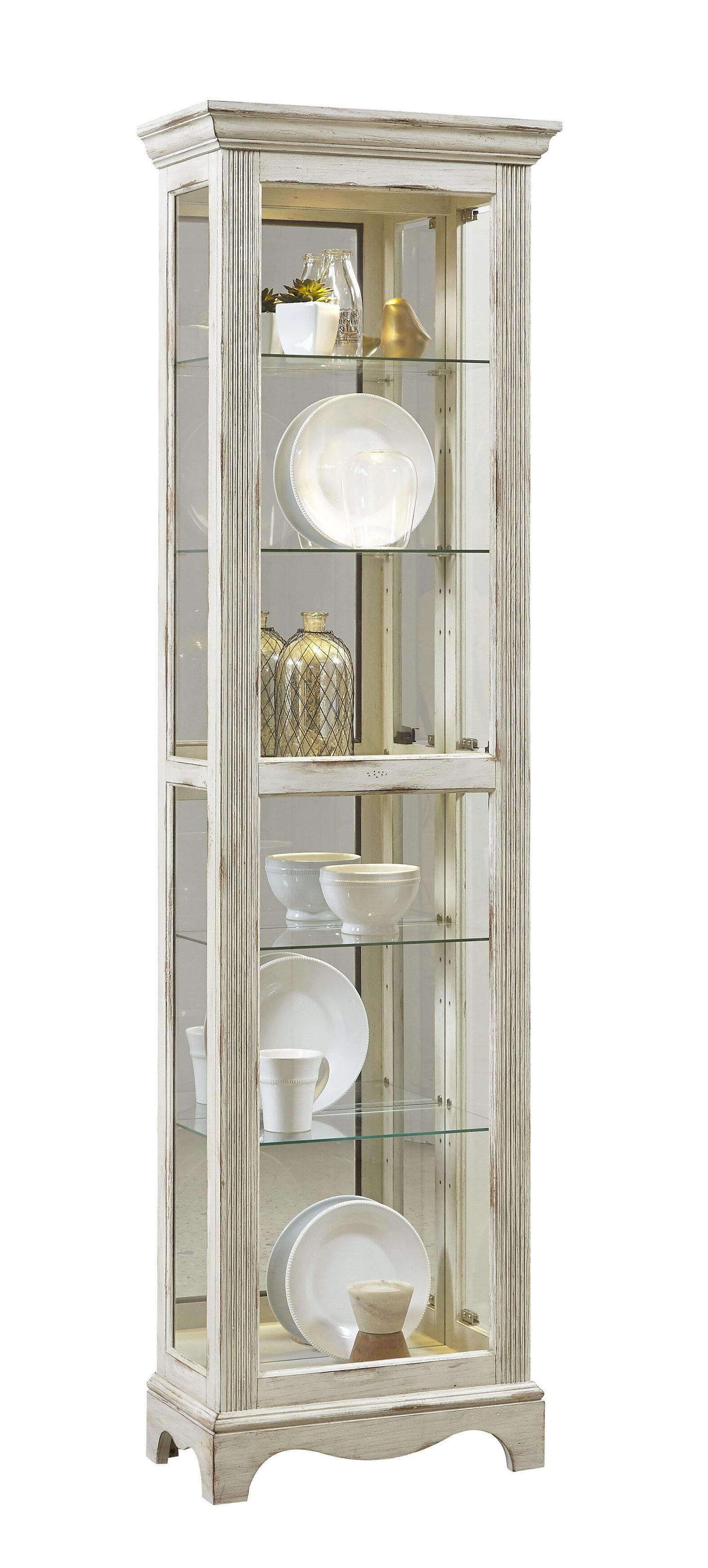 Davie Weathered Standard Curio Cabinet By Beachcrest Home
