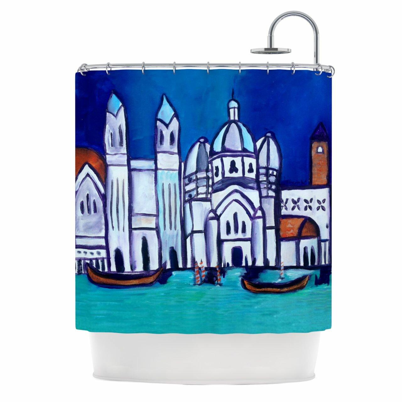 KESS InHouse Venice Shower Curtain