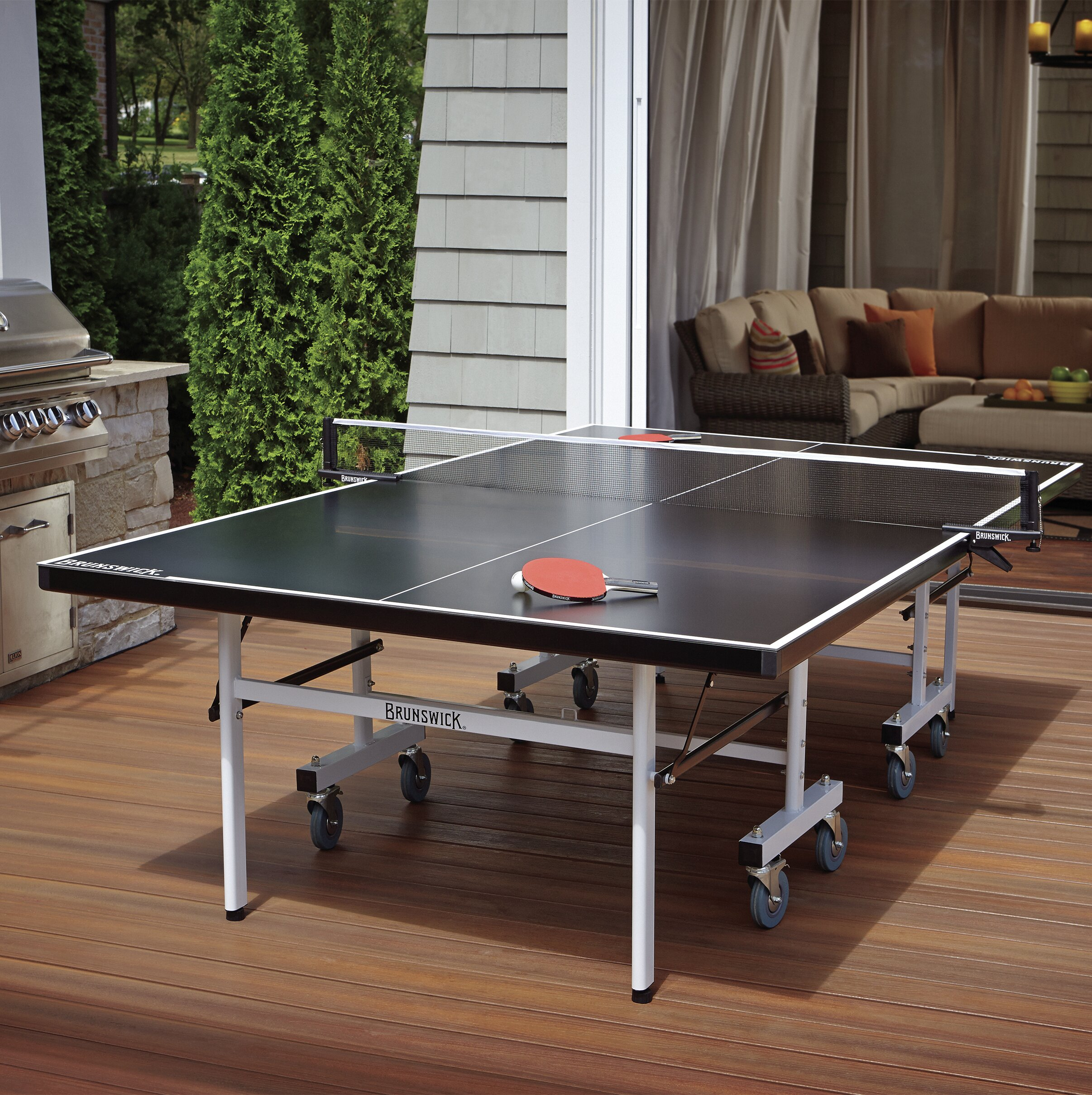 cc87fa33221 Brunswick Billiards Smash Folding Indoor Outdoor Table Tennis Table ...