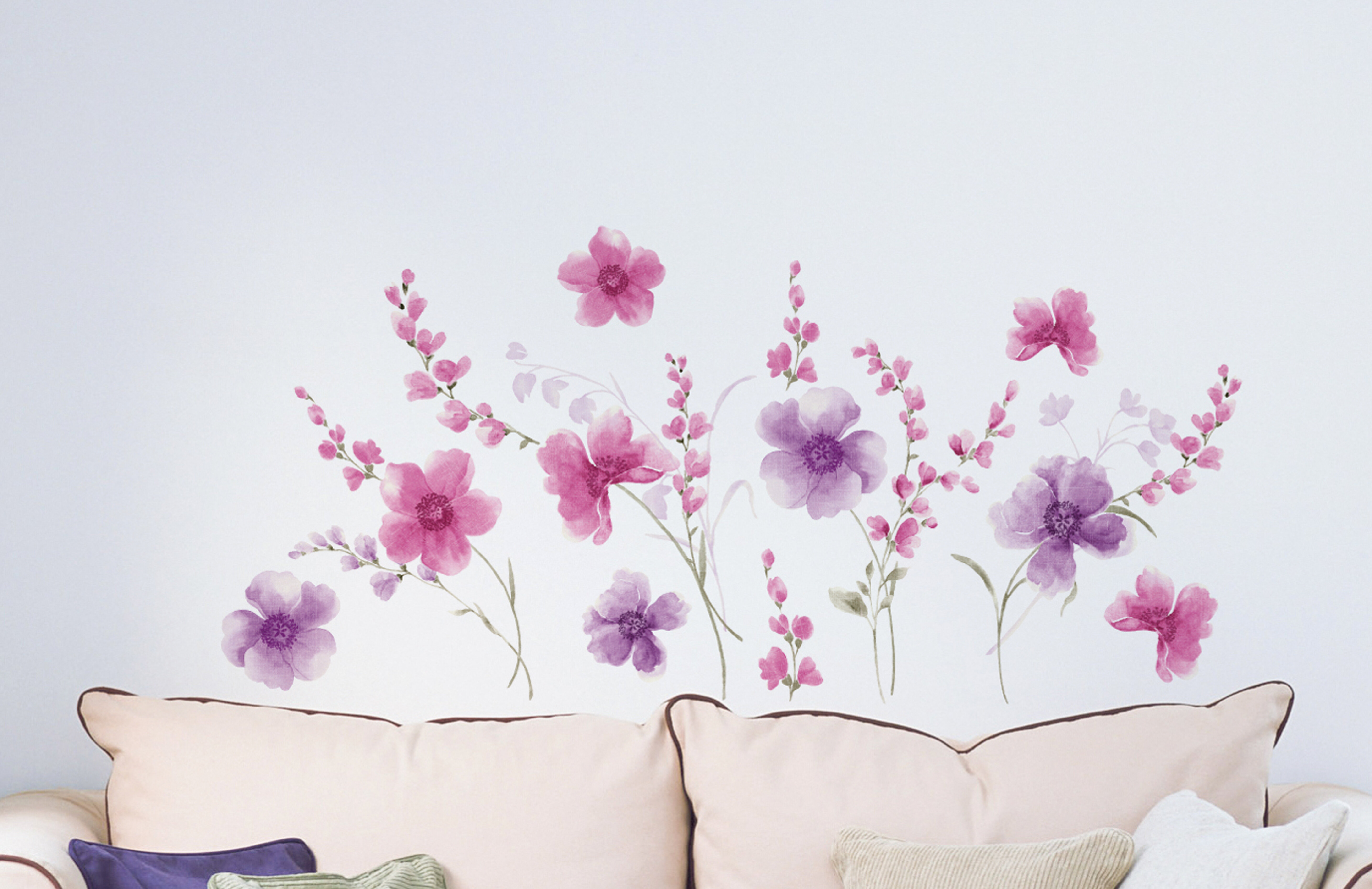 e1d0d0e0f WallPops! Home Decor Line Spring Flowers Wall Decal   Reviews