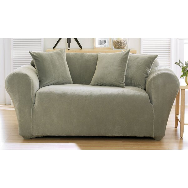 Sure Fit Stretch Pique Box Cushion Loveseat Slipcover